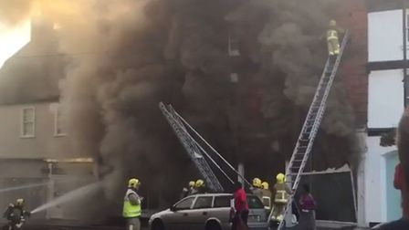 Hero fireman Patrick Ince - from video posted by Twitter user Claire Kuczma.