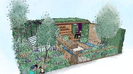 The design for a Centenary Children's Garden at Chelsea Flower Show 2019 features cutting edge hydro