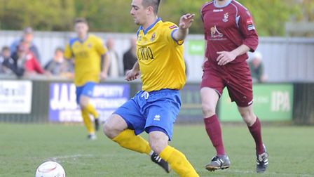 AFC Sudbury played Brentwood Town in the Ryman Football League division one north semi-final on Wedn