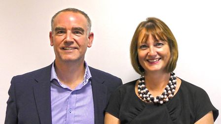 Andy Holdcroft, chief executive of RehabWorks, with Jayne Carrington, managing director of Right Man
