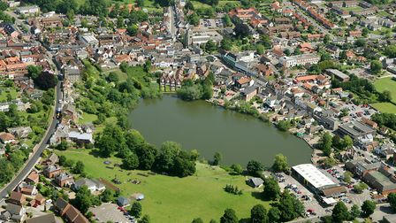 Picture shows: Aerial view of Diss Mere.June 2005Picture by: Mike Page
