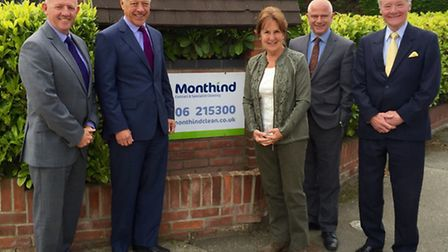 Members of the Monthind management team at the company's Copford headquarters near Colchester.