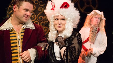 Charles Davies, Alice Mottram and Joseph Leat in The Count of Monte Cristo by Pat Whymark, produced