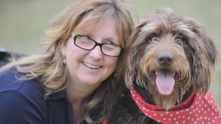 Thousands of visitors attended the Essex Dog Day on Sunday. Gill Bottazzi and Ruby.