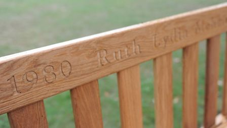 Bench has been installed in Chrictchurch Park in memory of Ruth Mehmed who died in December from a b