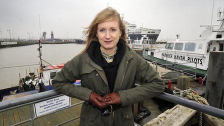 Author Kate Worsley at Harwich.