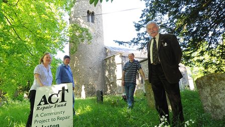 Organisers of Aslacton Church Tower repair fund action group at its launch in 2012. From left, Janin