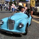 The Diss Heritage Transport Fayre. Joshua Vincent, three, in his model Austin J40. PHOTO: Archant