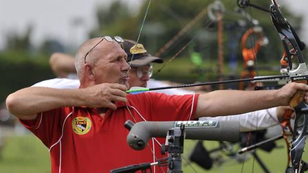 Archers compete in the 65th annual East Anglian Archery Championships in Framlingham on Sunday, 23 A
