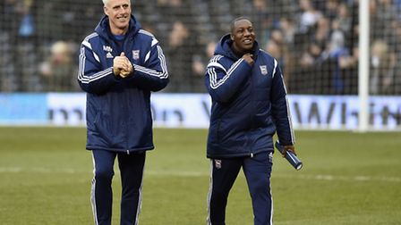 Ipswich Town boss Mick McCarthy and assistant Terry Connor. Photo: PAGEPIX LTD