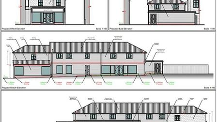 Impressions of approved plans to expand 27 Mere Street in Diss with two first floor flats. Picture: