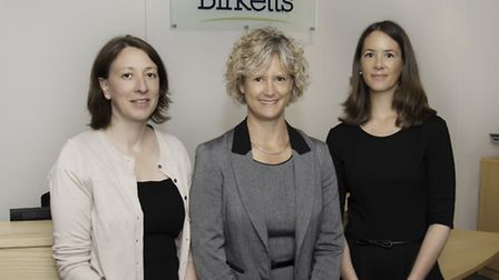 Maria Peyman of Birketts with colleagues Katherine Shadbolt and Kitty Rosser.