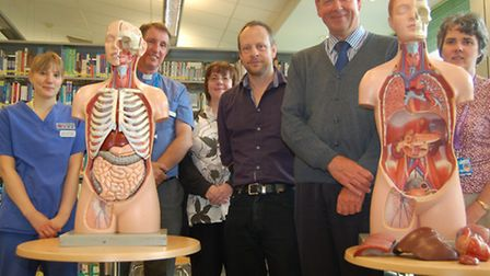 Cllr Everitt with the Organ Donation Committee members at West Suffolk Hospital.