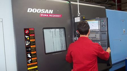 One of the new machines at engineering company Ultra Precision in Haverhhill which have been part-fu