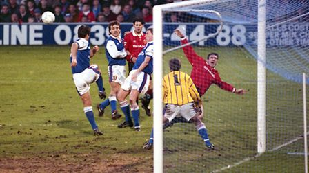Ipswich host Manchester United in January 1993