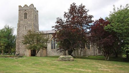 St Mary's Church in Newton Flotman that is to host the rededicated of the renovated village war memo