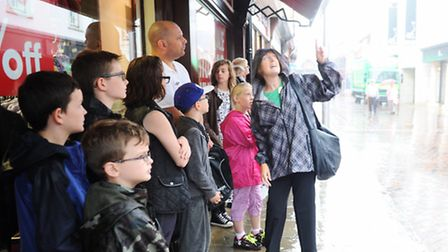 Horrible Histories Walk around Ipswich Town centre with Lois terry