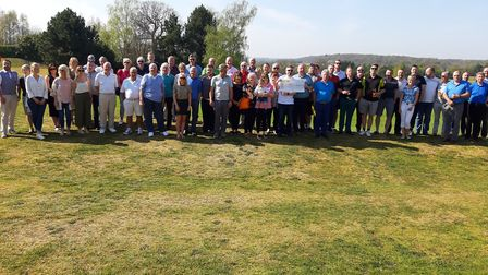 Participants at the charity golf day and auction at Wensum Valley Golf Club that raised £12,000 to h