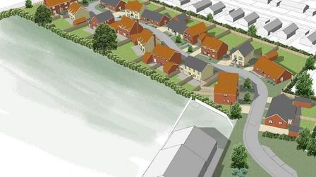 Plans have been submitted for 23 new homes on land in Hempnall. Picture: FW Properties/South Norfolk