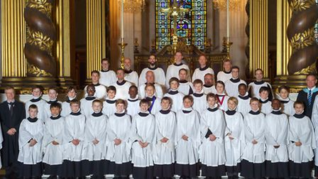 St Paul's cathedral choir who performed at Snape Maltings over the weekend