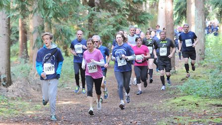 Around 150 runners took part in the 'Run 2 Remember' in Rendlesham Forest on Sunday in support of AB