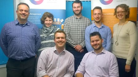 The IJYI team at Ipswich based office: Back row, left to right: Kelvin, Jasmine, Joe, Andy and Robyn