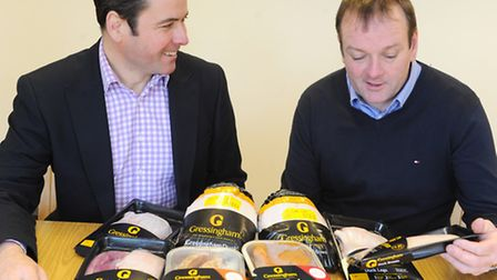 William (right) and Geoffrey Buchanan, who are joint MDs of Gressingham Foods.