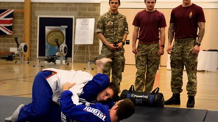 Colchester-based soldiers and their families were encouraged to be clean, fit and healthy at a healt
