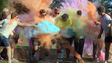 Colour Run challenge at Felsted School to raise funds for the school's charity partners, Sparkle Mal