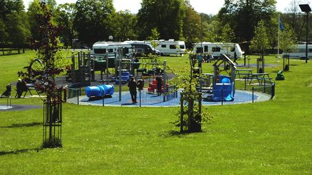 Diss Town Council has issued a notice to leave on travellers whose caravans are on Diss Park. Pictur