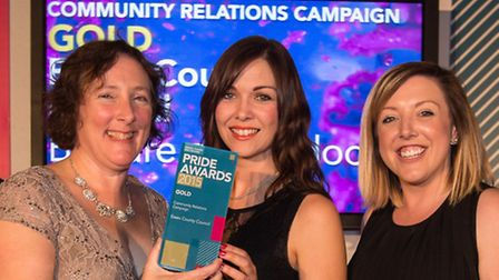 The presentation of the Gold award in the Community Relations Campaign category to Essex County Coun