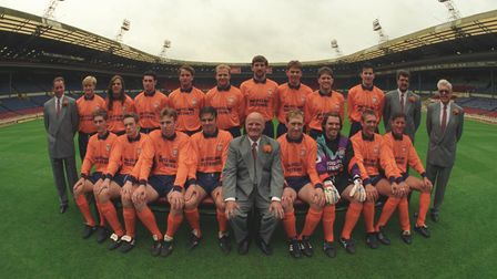 Diss Town FA Vase Cup win against Taunton at Wembley, 7 May 1994 . Photo: Archant Library