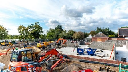 Construction is under way to almost double the size of Roydon Primary School as part of a £5.75m pro