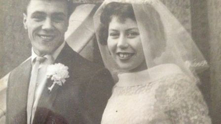 Eileen and Phil Hicks on their wedding day in 1959