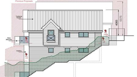 Revised designs for the housing development next to Diss Mere that show its reduced scale from those