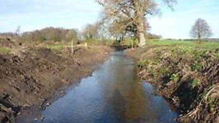An example of how not to undertake watercourse management and a clear case of serious harm. Taken o