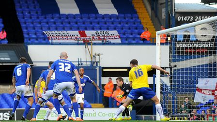 Christophe Berra scores for Town in second half.