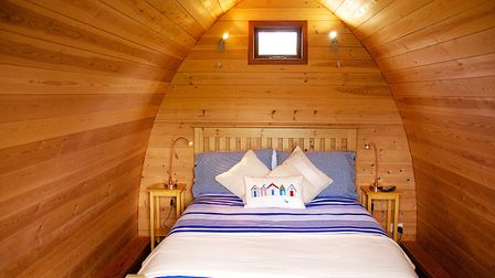 Inside one of the glamping pods at Banham. Picture: Applewood Countryside Park