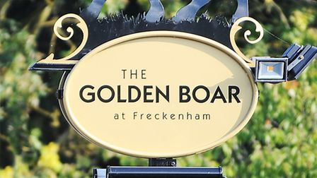 The Golden Boar in Freckenham. Cyclists called 999 after the pub owners refused them tap water.