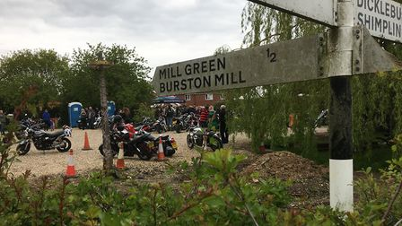 Beers, Bikes and Bands drew hundreds of bikers to Burston, near Diss. Picture: Simon Parkin