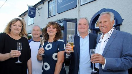 Julie Harper, Hefin Jones, Melissa and Terry Purnell, David Twyman the team behind the reopening of