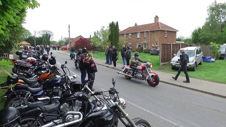 Beers, Bikes and Bands drew hundreds of bikers to Burston, near Diss. Picture: Peter Eveson