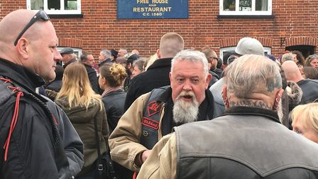 Hundreds of motorcycle enthusists were among the crowds for Beers, Bikes and Bands at the Burston Cr