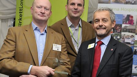 James Kelland, from Delph Derivatives received an award for raising the most money in the St Helena