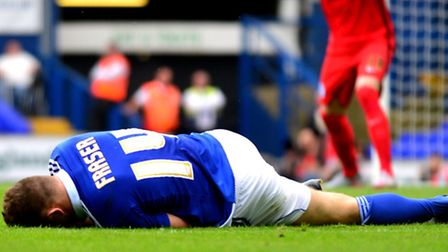 Devastation for Town winger Ryan Fraser, who has been ruled out for at least two months with a media