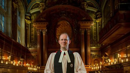 The Reverend Anthony Howe, the new chaplain at Hampton Court Palace's Chapel Royal.