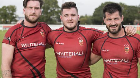 Three Pickett brothers: Liam, Harrison and Oliver for Colchester Rufc