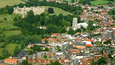 Framlingham from above. Aerial photo by Mike Page.