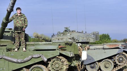 Stephen MacHaye brought two of his tanks from his Norfolk Tank Museum to the military remembrance fe