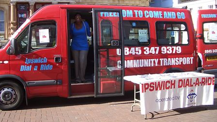 Community transport, like Dial a Ride, faces financial cuts.